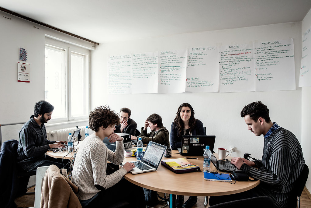 Offices and editorial Staff at Kosovo 2.0, Pristina