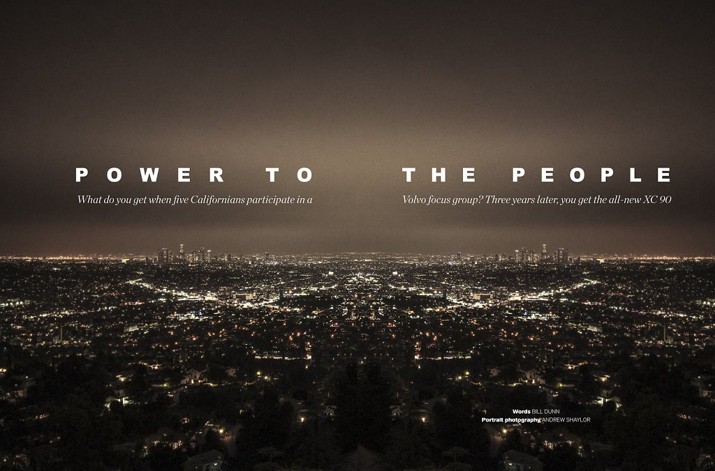 Downtown Los Angeles for Volvo XC90 Launch Magazine